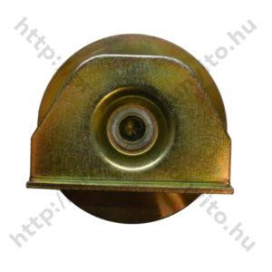 tolókapugörgő, hegeszthető, M80-as méretben, U alakú csőhöz, galvanizált, oldal - protecokapunyito.hu