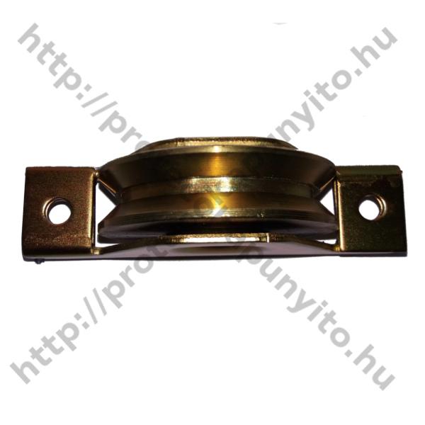 Tolókapu görgő, süllyeszthető, csavarozható, M100-as méretben, Y alakú szögvashoz, galvanizált - protecokapunyito.hu