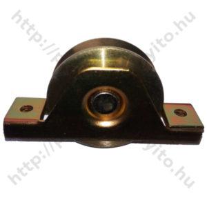Tolókapu görgő, süllyeszthető, csavarozható, M80-as méretben, Y alakú szögvashoz, galvanizált - protecokapunyito.hu